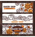 Bakery Shop Design Sketch Bakery Banners vector image