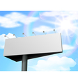 Billboard of blank for new advertisement vector image