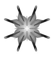 black and white flower on a white background vector image vector image