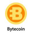 bytecoin icon flat style vector image