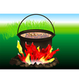 campfire cooking vector image vector image
