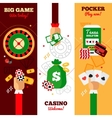 Casino Design Concept Banners vector image
