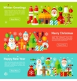 Christmas Holiday Web Horizontal Banners vector image