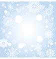christmas snowflake card vector image vector image