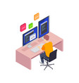 coding in languages composition vector image