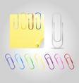 Colofrul Paper Clips vector image vector image