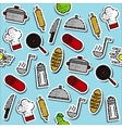 Colored cooking pattern vector image vector image