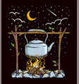cooking in nature vector image