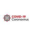 covid19-19 typography design logo and coronavirus vector image