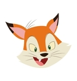 Cute baby wolf funny cartoon vector image