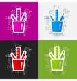 drawing business formulas stationery tools vector image