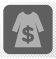Dress Sale Rounded Square Button vector image