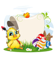 Easter invitation vector image vector image