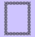 elegant frame frame vector image