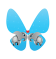 elephants in love butterfly vector image