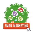Email marketing and communication media design vector image vector image