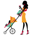 Fashion mom vector image vector image