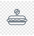 fast food concept linear icon isolated on vector image