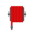 flat icon of red water hose for fire vector image