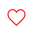 flat line heart icon vector image vector image