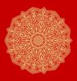 flower gold mandala vintage decorative elements vector image vector image