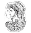 gonzaga cameo is in the st petersburg museum vector image vector image