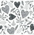 hand drawn doodle seamless pattern black vector image vector image