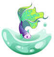 hand drawn sketch betta fish colorful fancy vector image