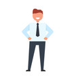 happy businessman in suit vector image vector image