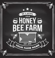 honey farm badge concept for shirt print vector image vector image