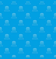 hotel five stars pattern seamless blue vector image