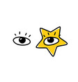 human eyes the look is directed to viewer an vector image
