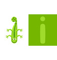 i is for iguana letter i iguana cute vector image