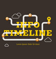info timeline business concept with winding road vector image vector image
