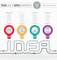 Infographic web template with icons and design vector image vector image