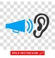 Listen Advertisement Megaphone Eps Icon vector image