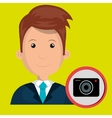 man camera photography icon vector image