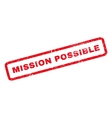 Mission Possible Rubber Stamp vector image vector image