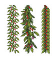 new year and christmas decoration vector image