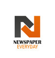 newspaper everyday sign vector image