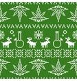 Pixel art christmas weed seamless vector image vector image
