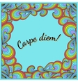 Positive postcard with Carpe diem and rainbow vector image vector image