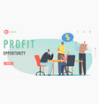 profit opportunity landing page template business vector image
