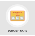 Scratch card flat icon vector image