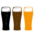 set of beer glasses vector image vector image