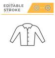 shirt editable stroke line icon vector image vector image