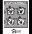 spot the difference black lion vector image vector image