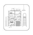 Storeroom line interior vector image vector image