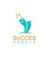 succes logo vector image vector image