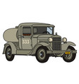 the vintage military tank truck vector image vector image